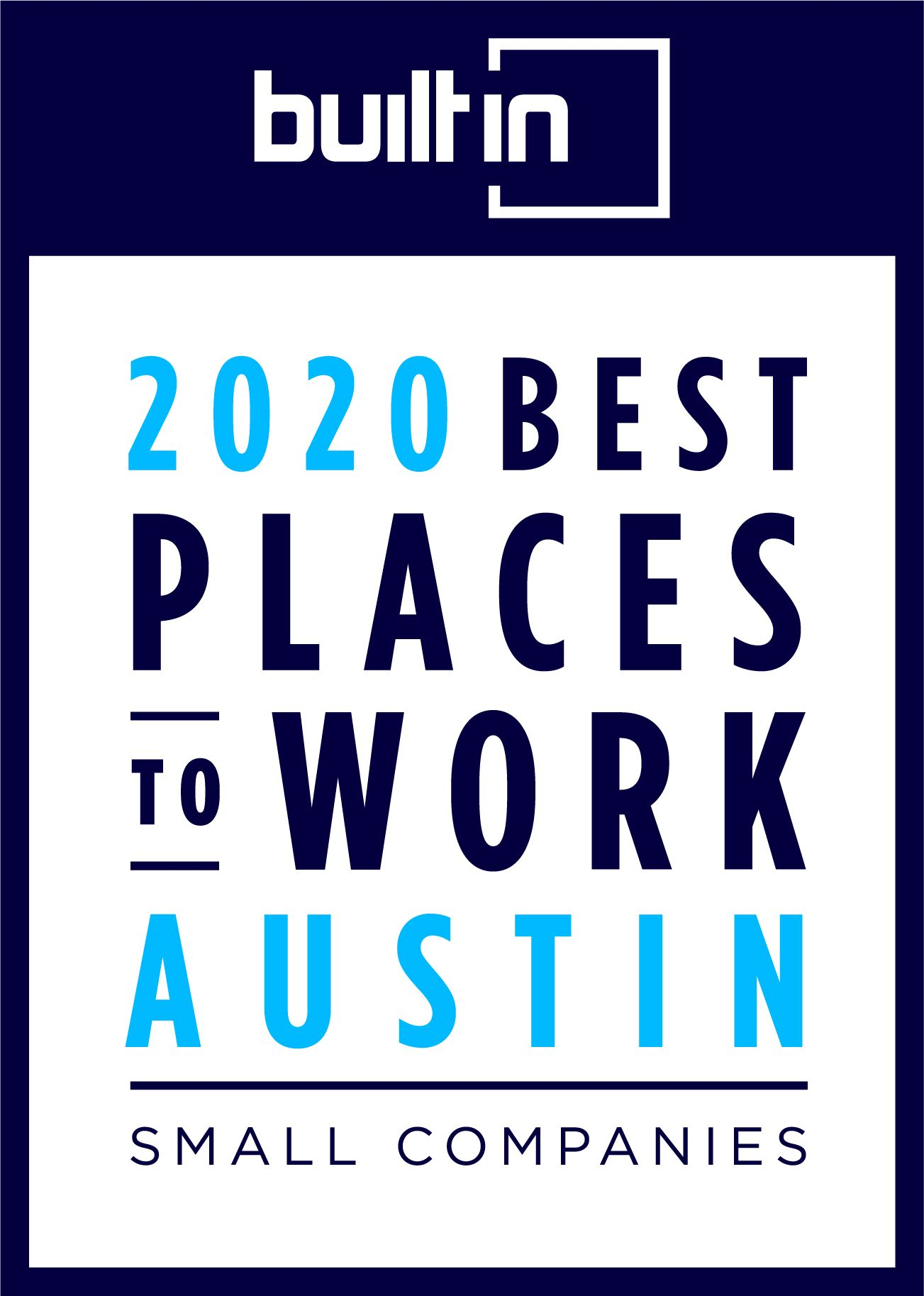 2020 Best Places to Work Austin Badge